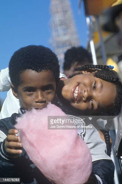 AfricanAmerican children eating cotton candy Natchez MI