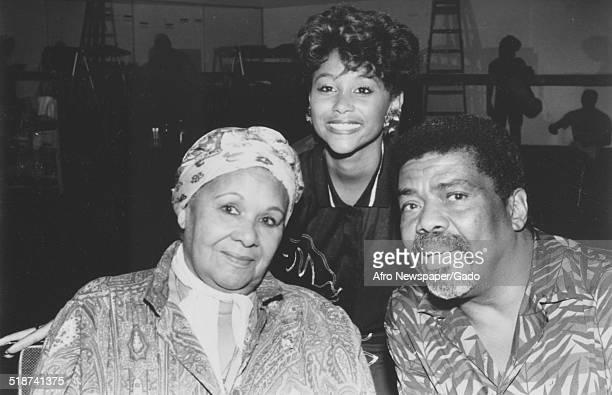 AfricanAmerican choreographer dancer and activist Alvin Ailey and dancer choreographer author educator and social activist Katherine Dunham 1975