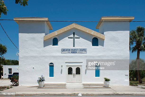 African-American Church in Sarasota,FL. AME - African Methodist Episcopal Church denomination. 50 members, Spanish inspired architecture.