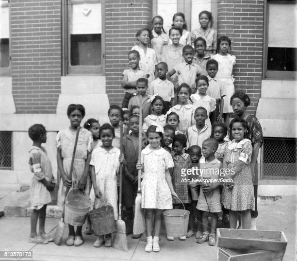 AfricanAmerican citizens during the Afro American Newspapers Clean Block campaign Baltimore Maryland 1939