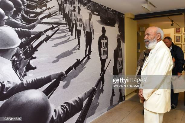 AfricanAmerican Civil Rights Movement figure and first AfricanAmerican student at the University of Mississippi in 1962 James Meredith looks at a...