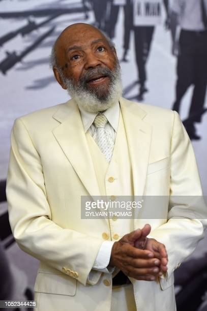 AfricanAmerican Civil Rights Movement figure and first AfricanAmerican student at the University of Mississippi in 1962 James Meredith poses at the...