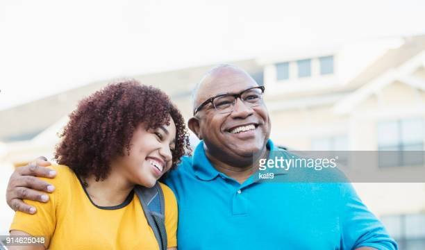 African-American father and daughter