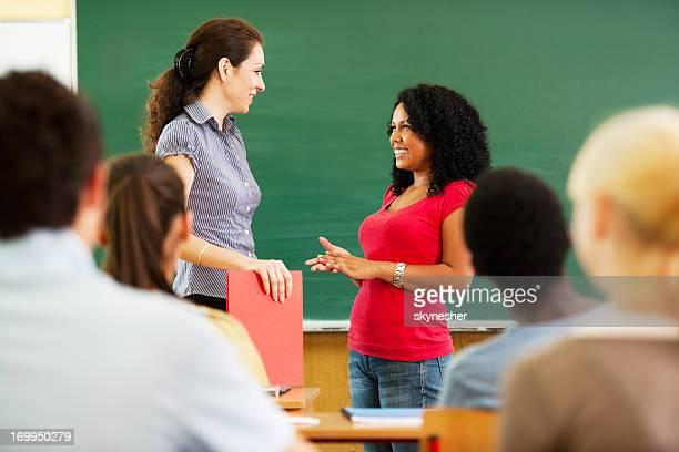 African-American girl, mündlichen Prüfung