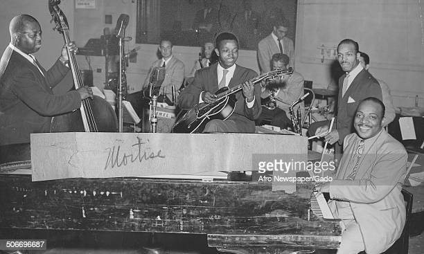 AfricanAmerican jazz musician Count Basie and a Jazz orchestra September 7 1946