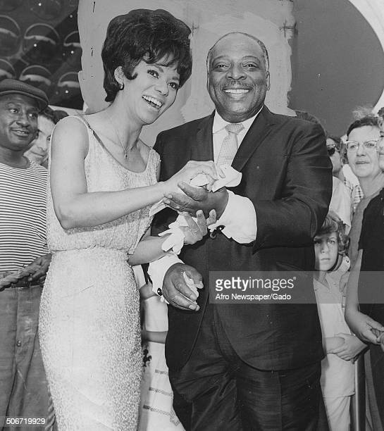 AfricanAmerican jazz musician Count Basie and singer actress civil rights activist and dancer Lena Horne during a ceremony November 17 1966