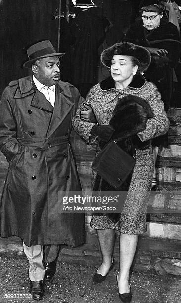 AfricanAmerican jazz musician Count Basie and wife 1958