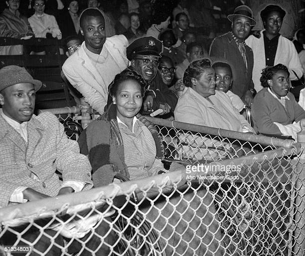 AfricanAmerican jazz musician Count Basie attending a baseball game Philadelphia Pennsylvania October 24 1959