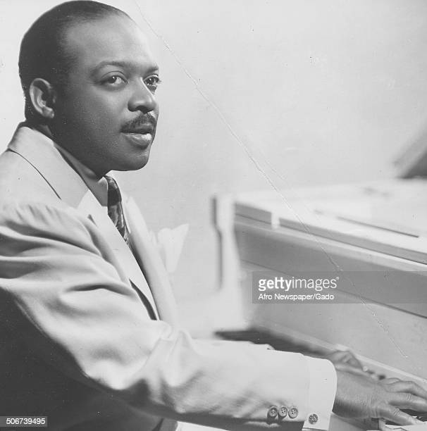 AfricanAmerican jazz musician Count Basie playing the piano 1948