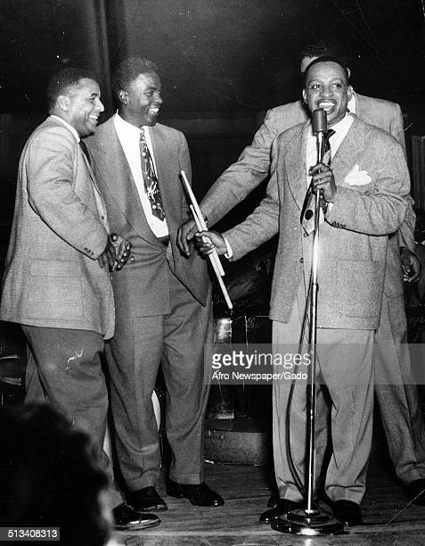AfricanAmerican jazz vibraphonist pianist percussionist bandleader and actor Lionel Hampton a Jazz orchestra American former baseball player Roy...