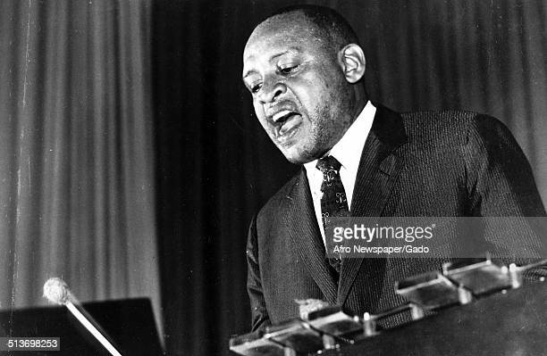 AfricanAmerican jazz vibraphonist pianist percussionist bandleader and actor Lionel Hampton 1973