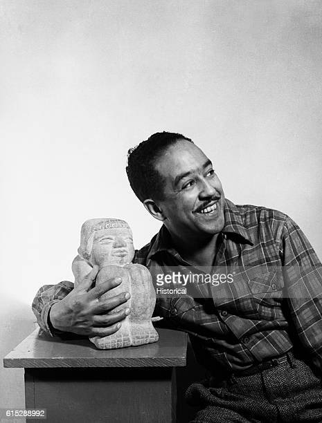African-American poet Langston Hughes , an important figure in the Harlem Renaissance of the 20th century, circa 1942.