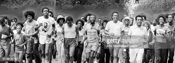 AfricanAmerican politician diplomat activist and pastor Andrew Young former pastor of the New Bethel Baptist Church Walter Fauntroy and politician...