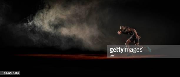 アフリカ系アメリカ人のランナー - 陸上競技大会 ストックフォトと画像