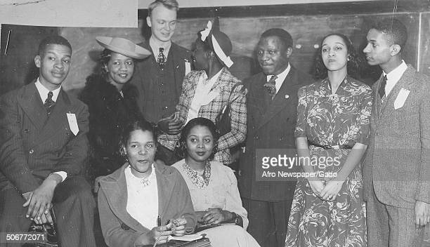 AfricanAmerican singer Marian Anderson and Dorothy Height during a conference for the National Association for the Advancement of Colored People 1960