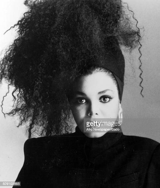 AfricanAmerican singer songwriter and actress Janet Jackson 1980