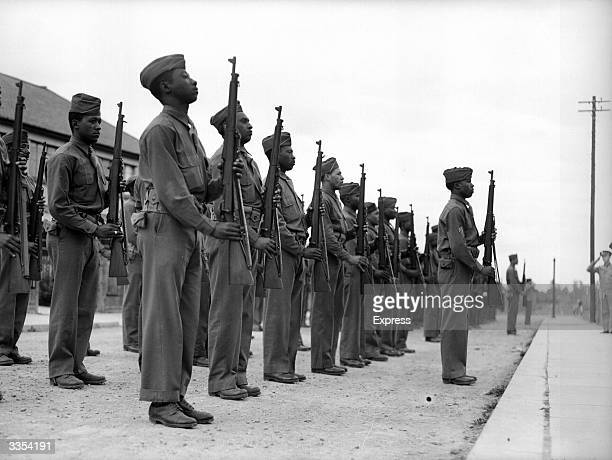 AfricanAmerican soldiers on parade