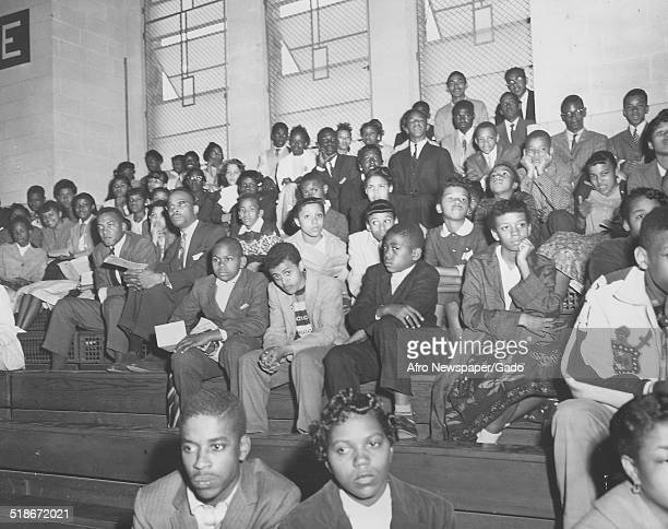 AfricanAmerican students of Booker T Washington High School at Morgan State University during a concert Baltimore Maryland 1957