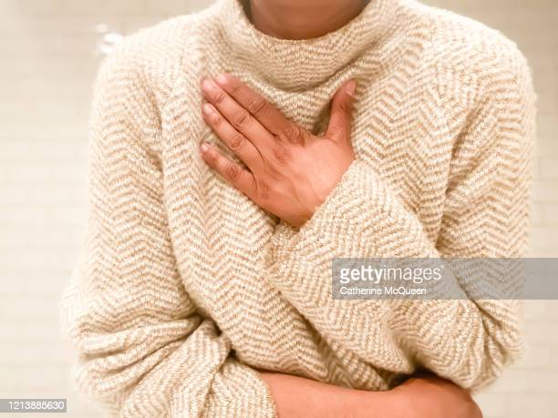 african-american woman experiences shortness of breath - anxiety stock pictures, royalty-free photos & images