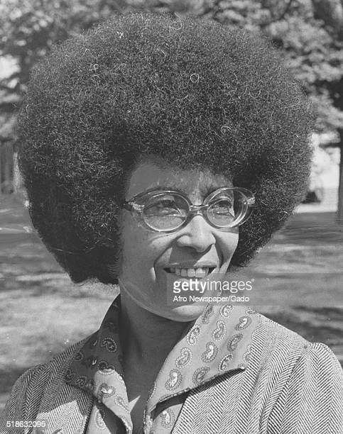 AfricanAmerican woman wearing Afro haircut and glasses Richmond Virginia May 17 1975