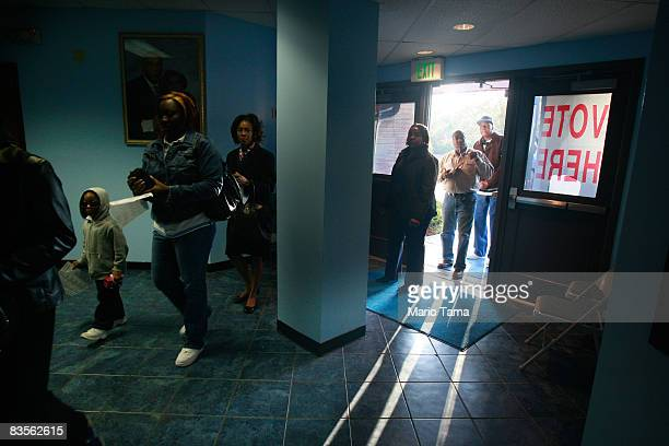 AfricanAmericans line up to vote in Bethel Missionary Baptist Church in the presidential election November 4 2008 in Birmingham Alabama Birmingham...