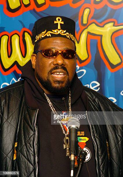 Afrika Bambaataa during Smithsonian's National Museum of American History's Hip Hop Initiative February 28 2006 at Hilton Hotel in New York City New...