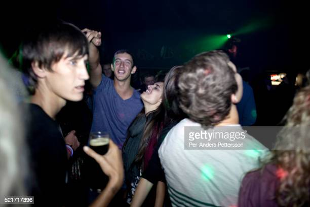 Afrikaners dance to traditional Afrikaner music at the Wiesbaden nightclub outside Bloemfontein South Africa Not one single black person in...
