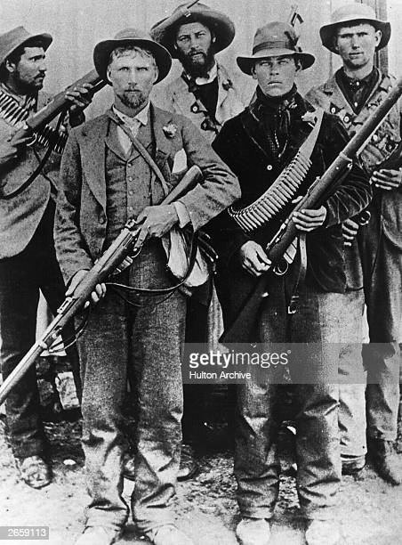 Afrikaners equipped with modern boltaction rifles during the second Boer War