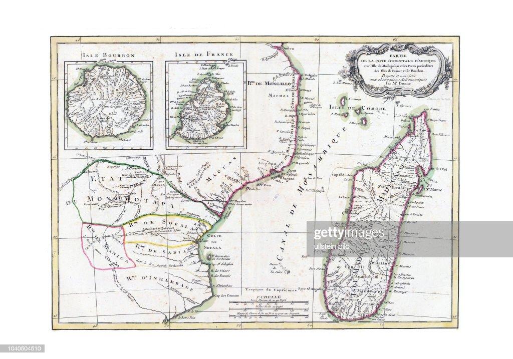 Madagaskar Karte.Afrika Suedost 1791 Mit Einer Karte Von Madagaskar Und Von