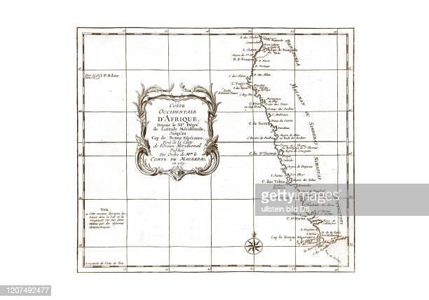 Afrika-Suedwest 1739. Aus: Nicolas Bellin, Abrégé de l'Histoire générale des voyages, Paris 1780 2:2