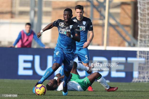 Afriye Acquah of Empoli FC in action during the Serie A match between Empoli and US Sassuolo at Stadio Carlo Castellani on February 17 2019 in Empoli...