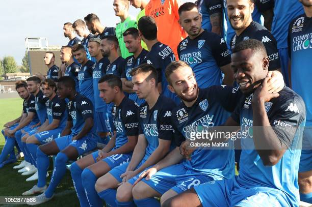 Afriyie Acquah and team mates are seen during Empoli FC Official Team Photo on October 24 2018 in Empoli Italy