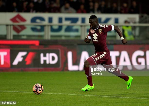 Afriyie Acquah in action during the Serie A match between FC Torino and FC Internazionale at Stadio Olimpico di Torino on March 18 2017 in Turin Italy