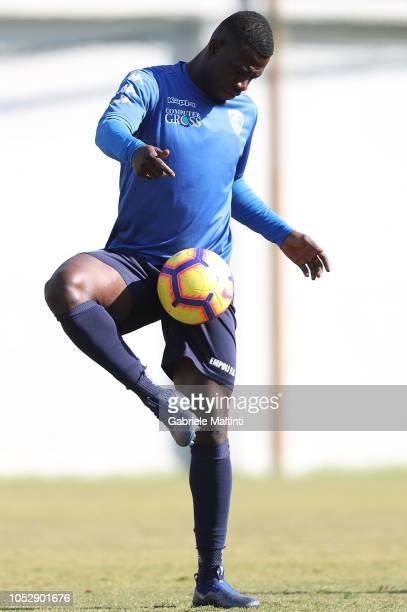 Afriyie Acquah of Empoli Fc in action during a training session on October 24 2018 in Empoli Italy
