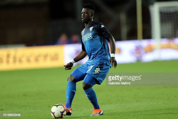 Afriyie Acquah of Empoli FC in action during the serie A match between Empoli and Cagliari at Stadio Carlo Castellani on August 19 2018 in Empoli...