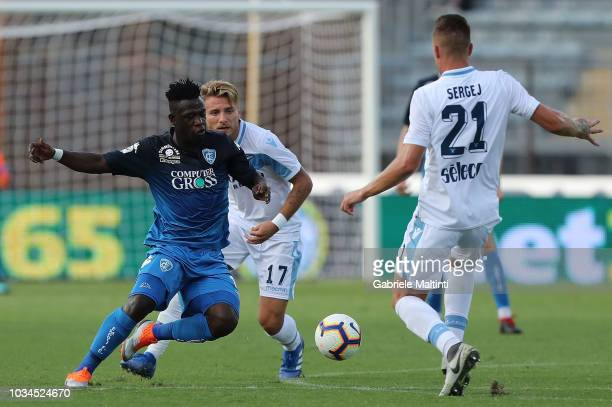 Afriyie Acquah of Empoli FC in action during the serie A match between Empoli and SS Lazio at Stadio Carlo Castellani on September 16 2018 in Empoli...