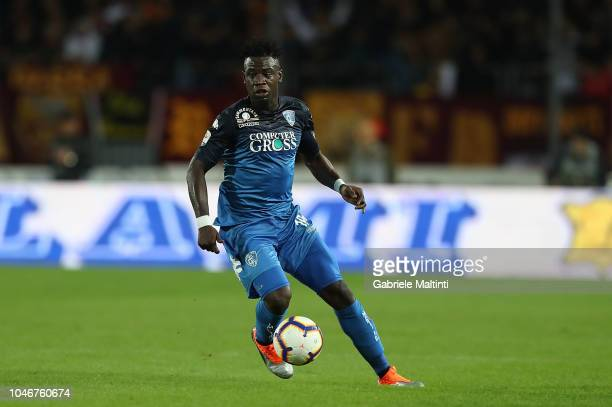 Afriyie Acquah of Empoli FC in action during the Serie A match between Empoli and AS Roma at Stadio Carlo Castellani on October 6 2018 in Empoli Italy