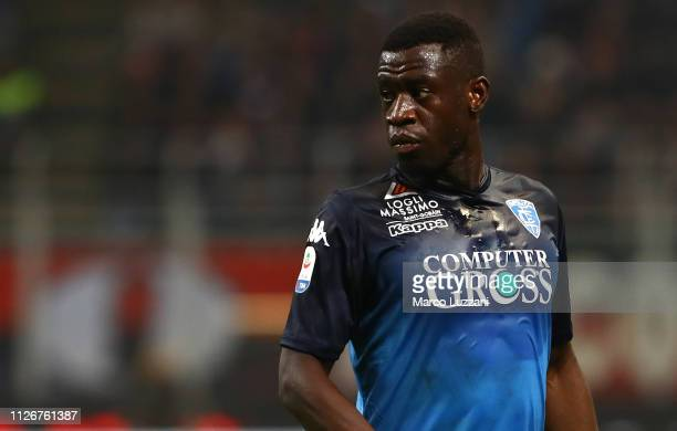 Afriyie Acquah of Empoli looks on during the Serie A match between AC Milan and Empoli at Stadio Giuseppe Meazza on February 22 2019 in Milan Italy