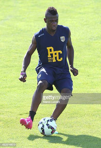 Afriyie Acquah of FC Parma in action during FC Parma Training Session at the club's training ground on July 22 2014 in Collecchio Italy