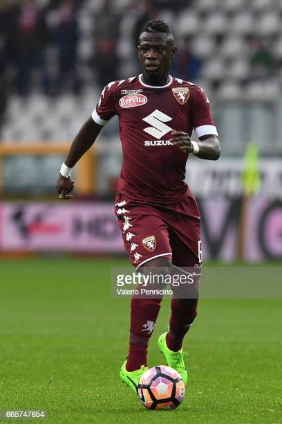 Afriyie Acquah of FC Torino in action during the Serie A match between FC Torino and Udinese Calcio at Stadio Olimpico di Torino on April 2 2017 in...