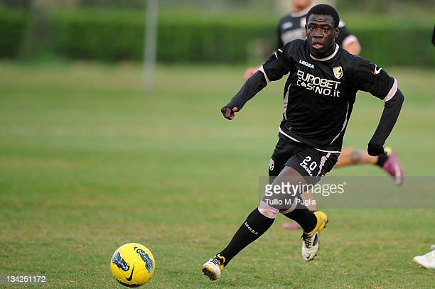 Afriyie Acquah of Palermo in action during a Palermo training session at Tenente Carmelo Onorato Sports Center on November 29 2011 in Palermo Italy