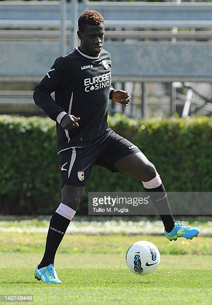 Afriyie Acquah of Palermo in action during a Palermo training session at Tenente Carmelo Onorato Sports Center on March 6 2012 in Palermo Italy