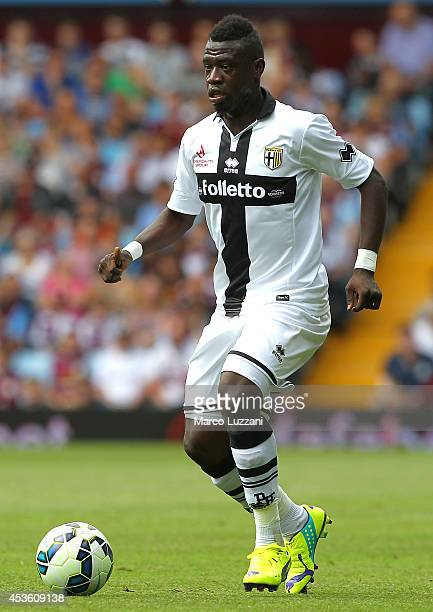 Afriyie Acquah of Parma FC in action during the preseason friendly match between Aston Villa and Parma at Villa Park on August 9 2014 in Birmingham...