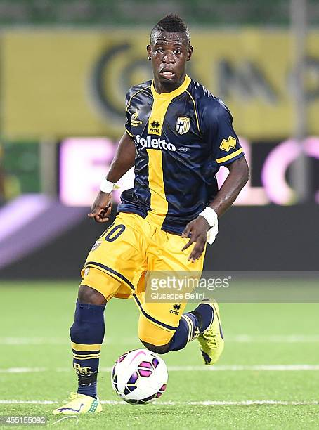 Afriyie Acquah of Parma in action during the Serie A match between AC Cesena and Parma FC at Dino Manuzzi Stadium on August 31 2014 in Cesena Italy
