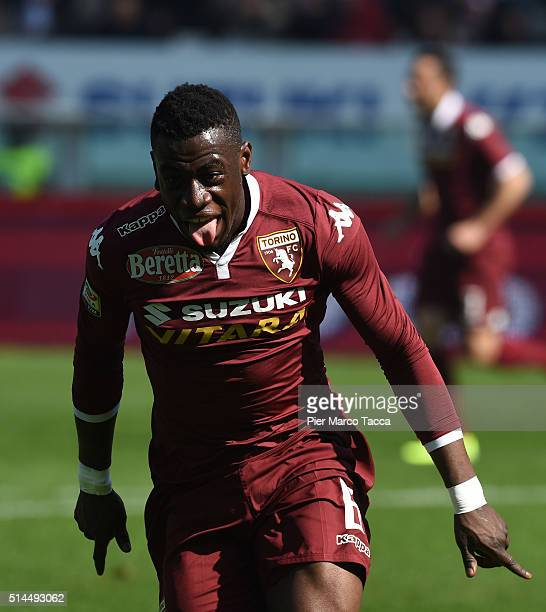 Afriyie Acquah of Torino FC celebrates the goal during the Serie A match between Torino FC and SS Lazio at Stadio Olimpico di Torino on March 6 2016...