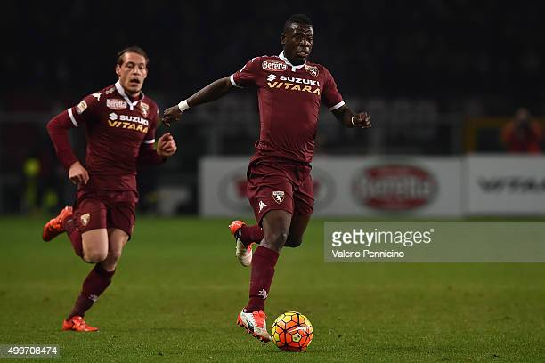 Afriyie Acquah of Torino FC in action during the Serie A match between Torino FC and Bologna FC at Stadio Olimpico di Torino on November 28 2015 in...