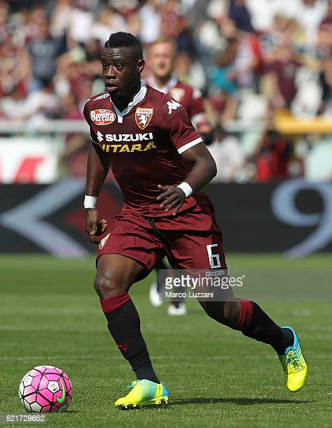 Afriyie Acquah of Torino FC in action during the Serie A match between Torino FC and Atalanta BC at Stadio Olimpico di Torino on April 10 2016 in...