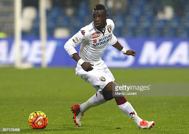 Afriyie Acquah of Torino FC in action during the Serie A match betweeen US Sassuolo Calcio and Torino FC at Mapei Stadium Città del Tricolore on...