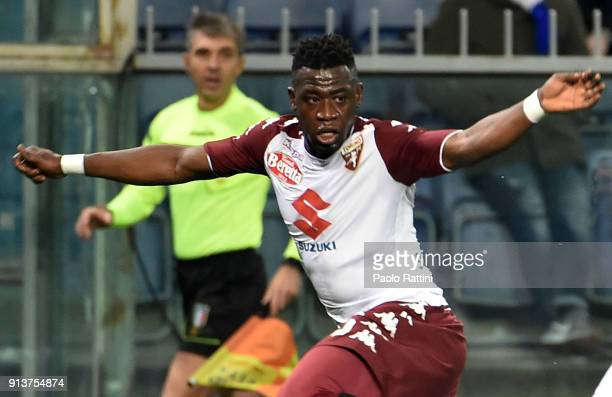 Afriyie Acquah of Torino in action during the serie A match between UC Sampdoria and Torino FC at Stadio Luigi Ferraris on February 3 2018 in Genoa...