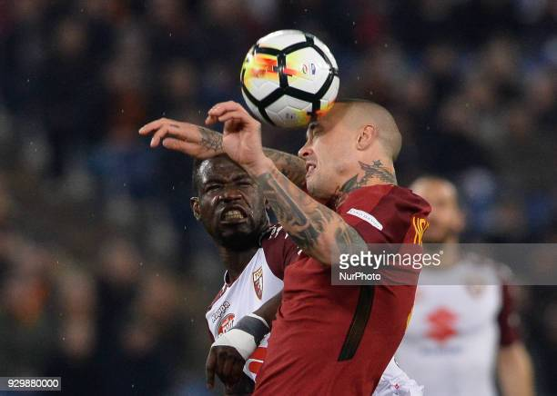 Afriyie Acquah Radja Nainggolan during the Italian Serie A football match between AS Roma and FC Torino at the Olympic Stadium in Rome on march 09...